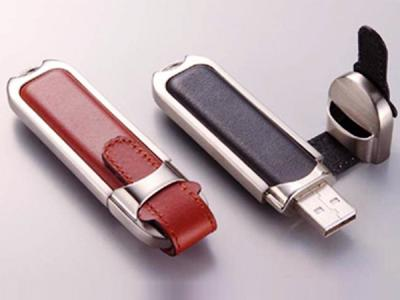 custom hot sell leather usb flash drive usb stick