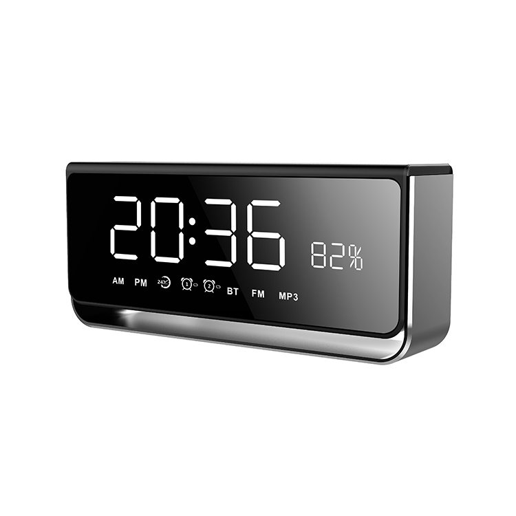 CASUN 5watter 4ohm bluetooth 4.2 rechargeable alarm clock speaker